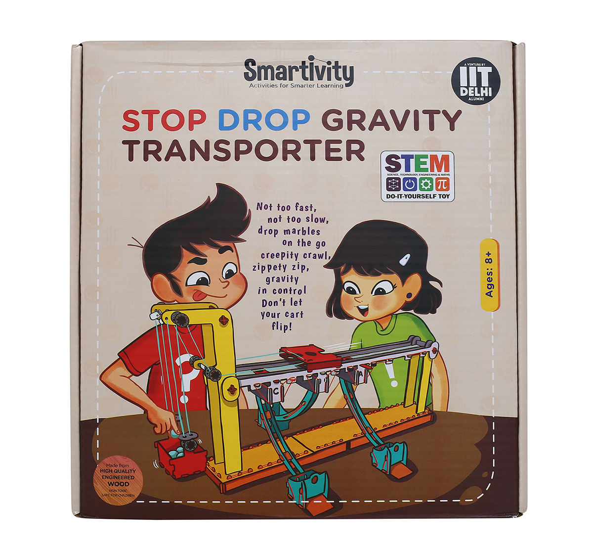 Smartivity | Smartivity Stop Drop Gravity Transporter : Stem, Learning, Educational and Construction Activity Toy Gift for Kids age 8Y+ (Multi-Color)