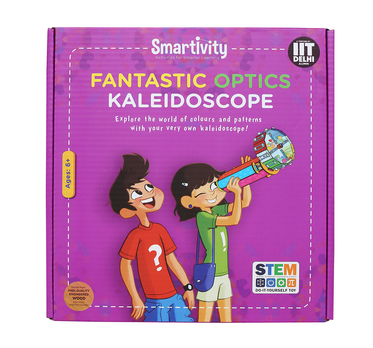 Smartivity | Smartivity Fantastic Optics Kaleidoscope:  Stem, Learning, Educational and Construction Activity Toy Gift for Kids age 6Y+ (Multi-Color)