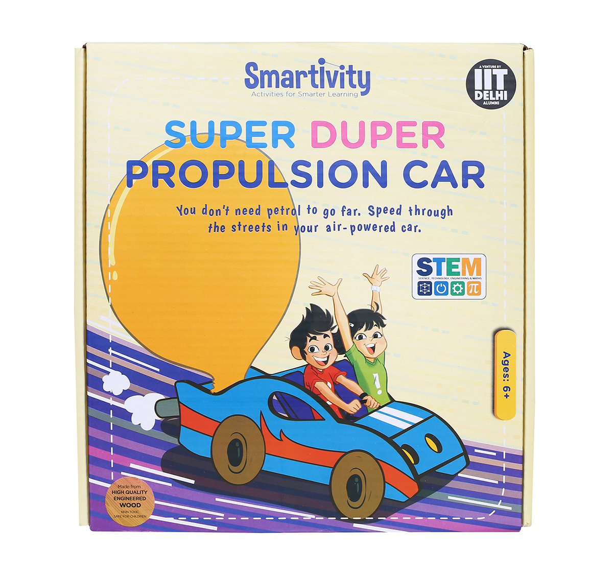Smartivity | Smartivity Super Duper Propulsion Car: Stem, Learning, Educational And Construction Activity Toy Gift for Kids age 6Y+  (Multi-Color)