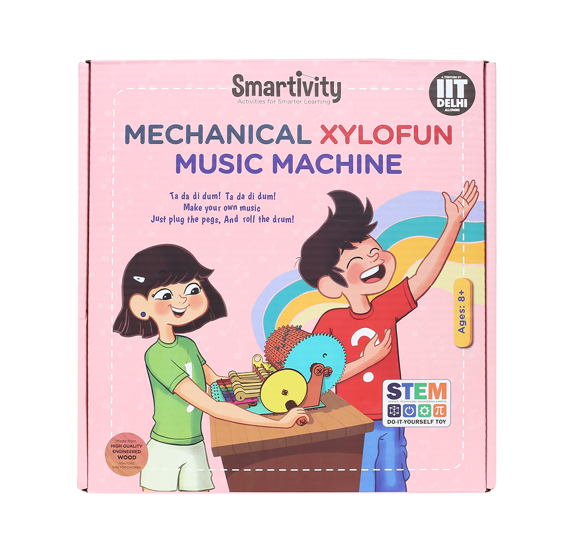 Smartivity | Smartivity Mechanical Xylofun Music Fun: Stem, Learning, Educational and Construction Activity Toy Gift for Kids age 8Y+  (Multi-Color)