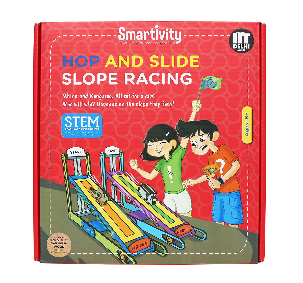Smartivity | Smartivity Hop and Slide Slope Racing:  Stem, Learning, Educational and Construction Activity Toy Gift for Kids age 6Y+  (Multi-Color)
