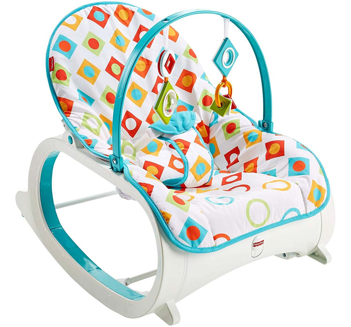 Fisher-Price | Fisher Price Infant To Toddler Rocker Geo Diamonds, Multi Color Baby Gear for Kids age 3Y+