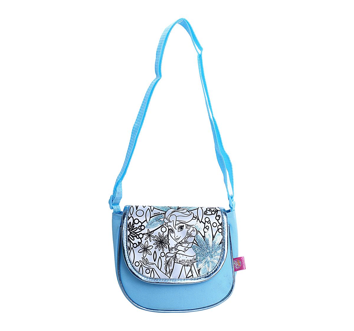 Disney   Disney Simba Color Me Mine Spring Sequin Bag - Frozen, Blue DIY Art & Craft Kits for Kids age 6Y+