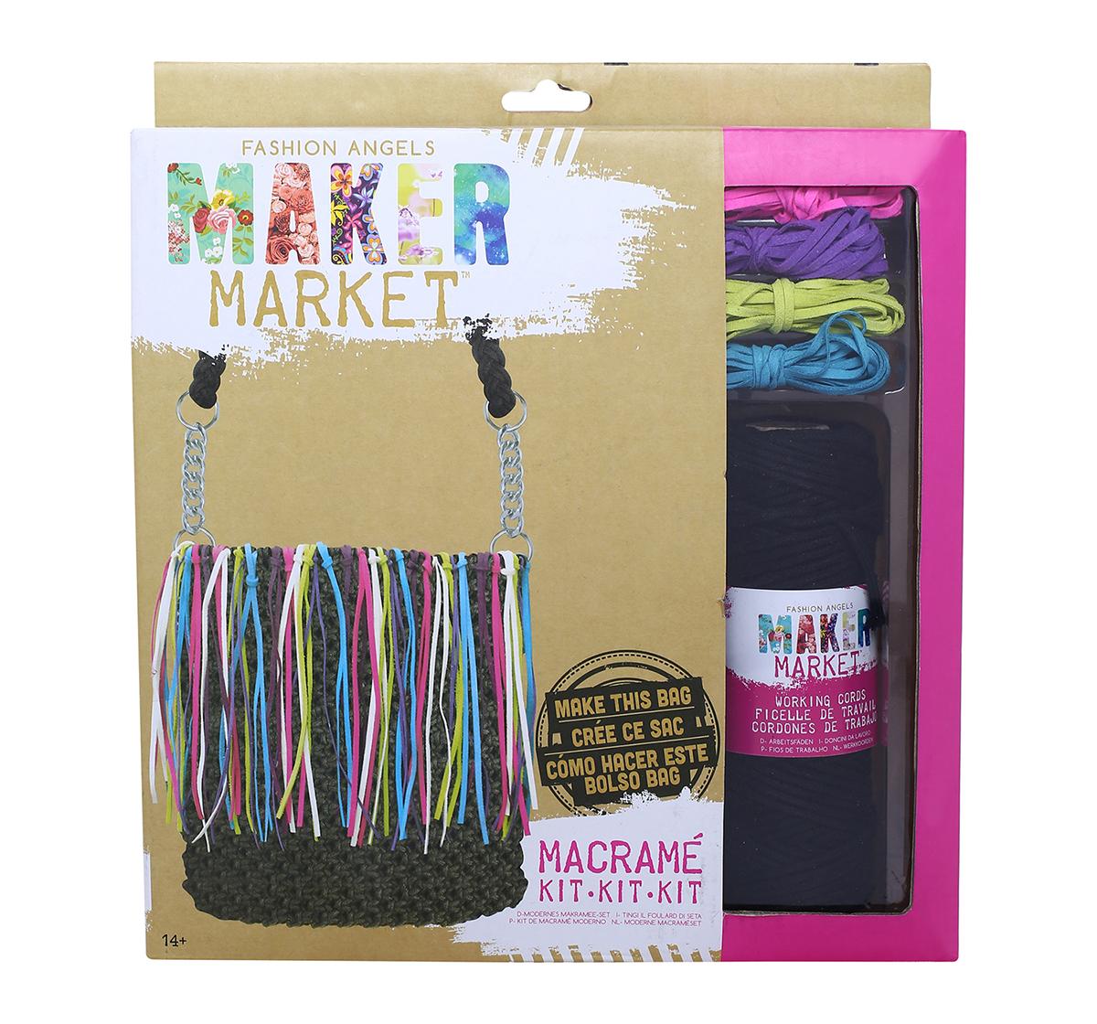 Fashion Angels   Fashion Angels Enterprises Maker Market Macrame Kit DIY Art & Craft Kits for Kids age 14Y+