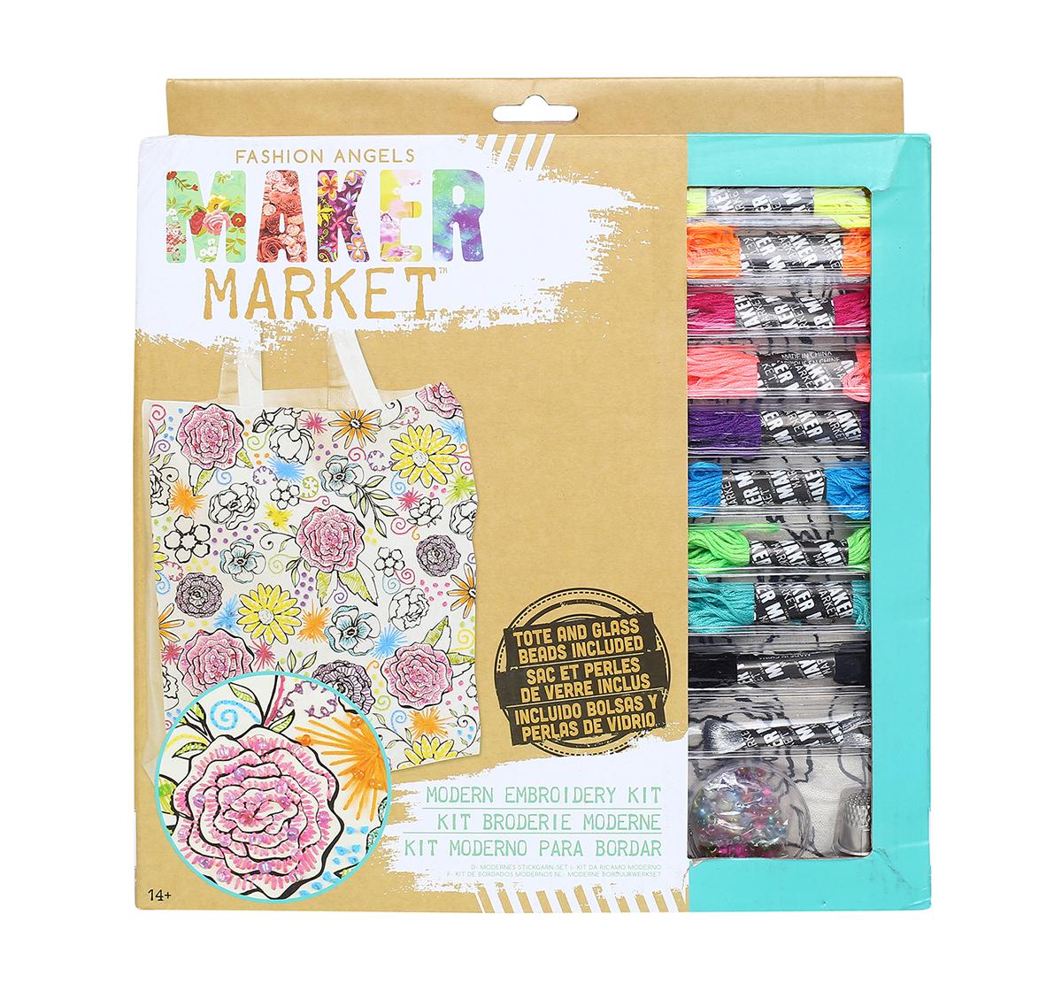 Fashion Angels    Fashion Angels Enterprises Maker Market Modern Embroidery Kit DIY Art & Craft Kits for Kids age 14Y+