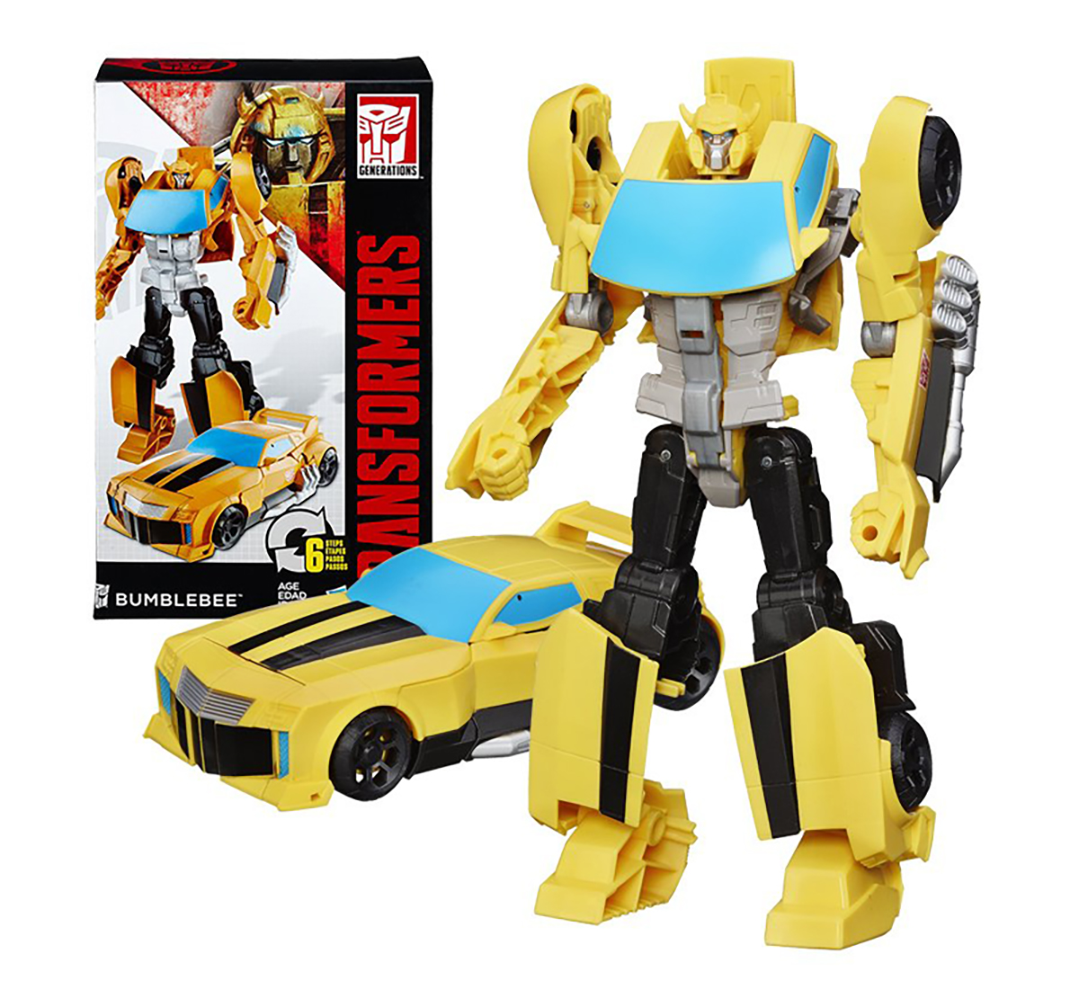 Transformers | Transformers Cyber Commander Series Bumblebee, Yellow Action Figures for Kids age 4Y+ (Yellow)