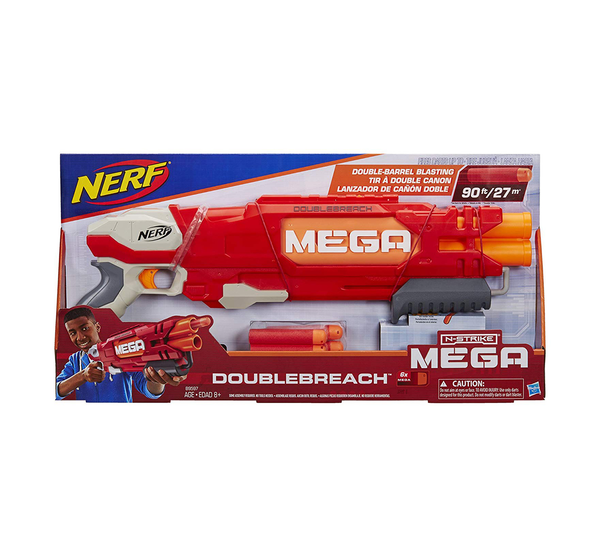 Nerf | Nerf Mega Doublebreach Blaster -- Breech Load, Pump Action -- age 6Y+