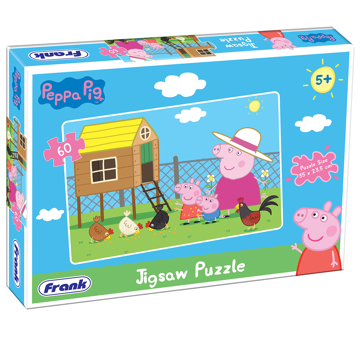 Frank | Frank Peppa Pig 60 Pcs Puzzle Puzzles for Kids age 5Y+