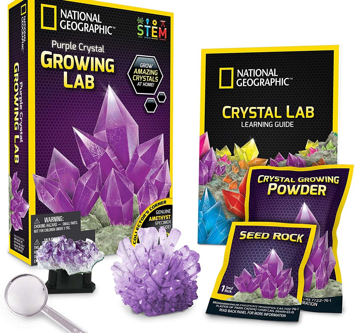 National Geographic   National Geographic Purple Crystal Growing Lab - Diy Crystal Creation Science Kits for Kids age 8Y+