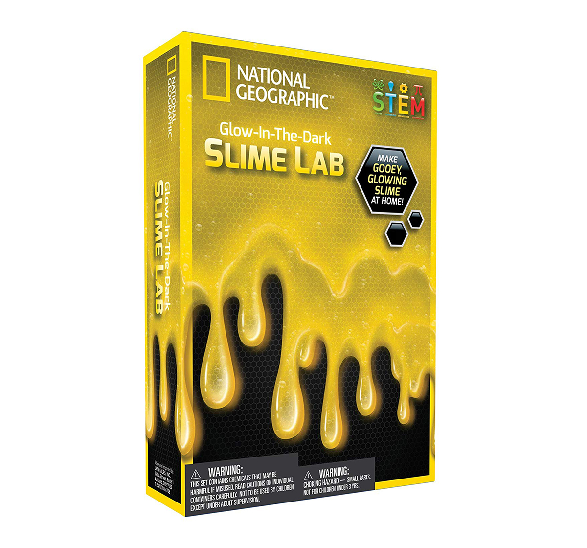 National Geographic |  National Geographic DIY Science Lab Make Glowing Slime Science Kit for Kids age 6Y+ (Yellow)