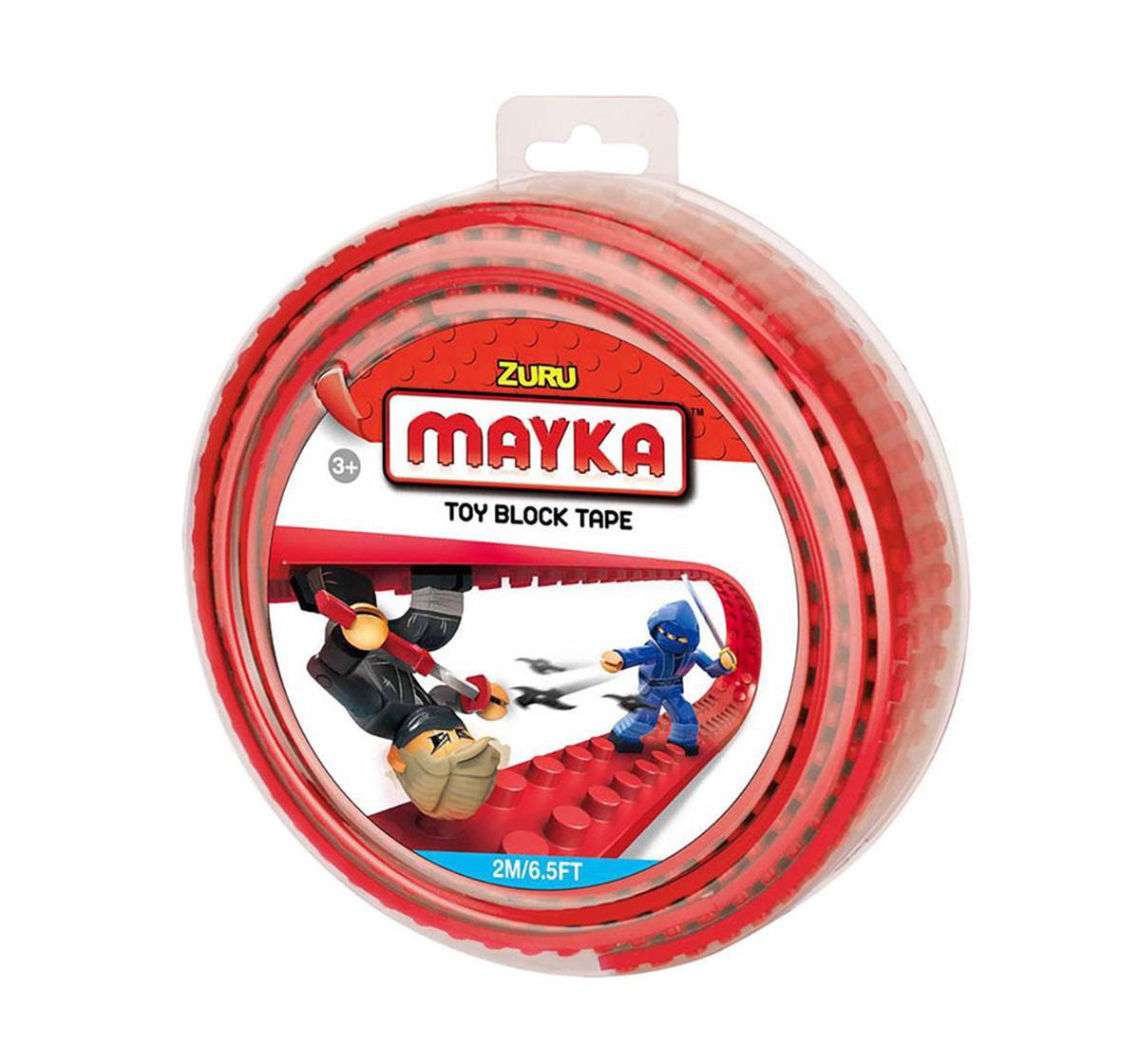 Mayka   Zuru Mayka Toy Block Tape Generic Blocks for Kids age 3Y+ (Red)