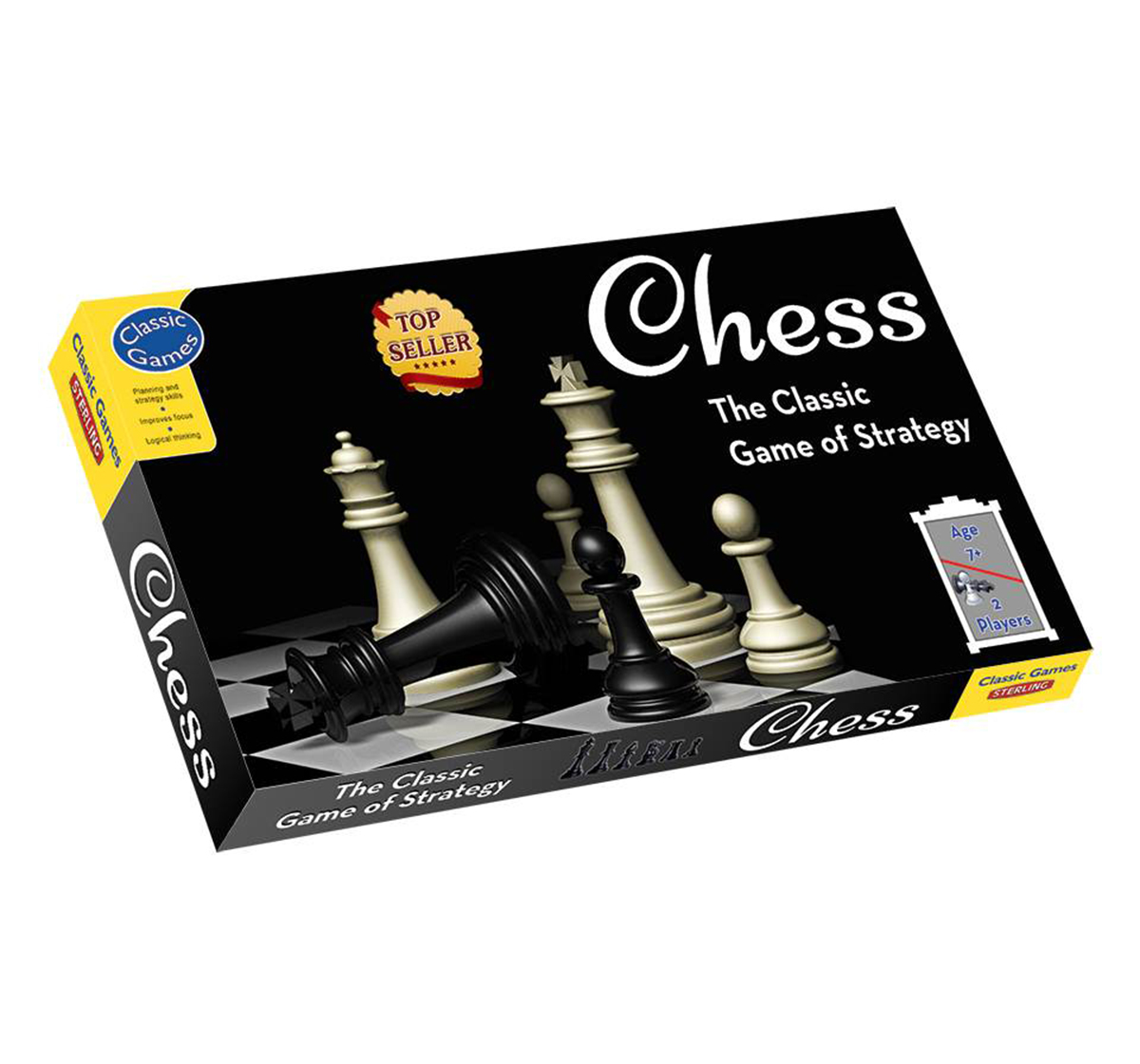 Sterling | Sterling Chess Board Game, Unisex, 7Y+(Multicolour)