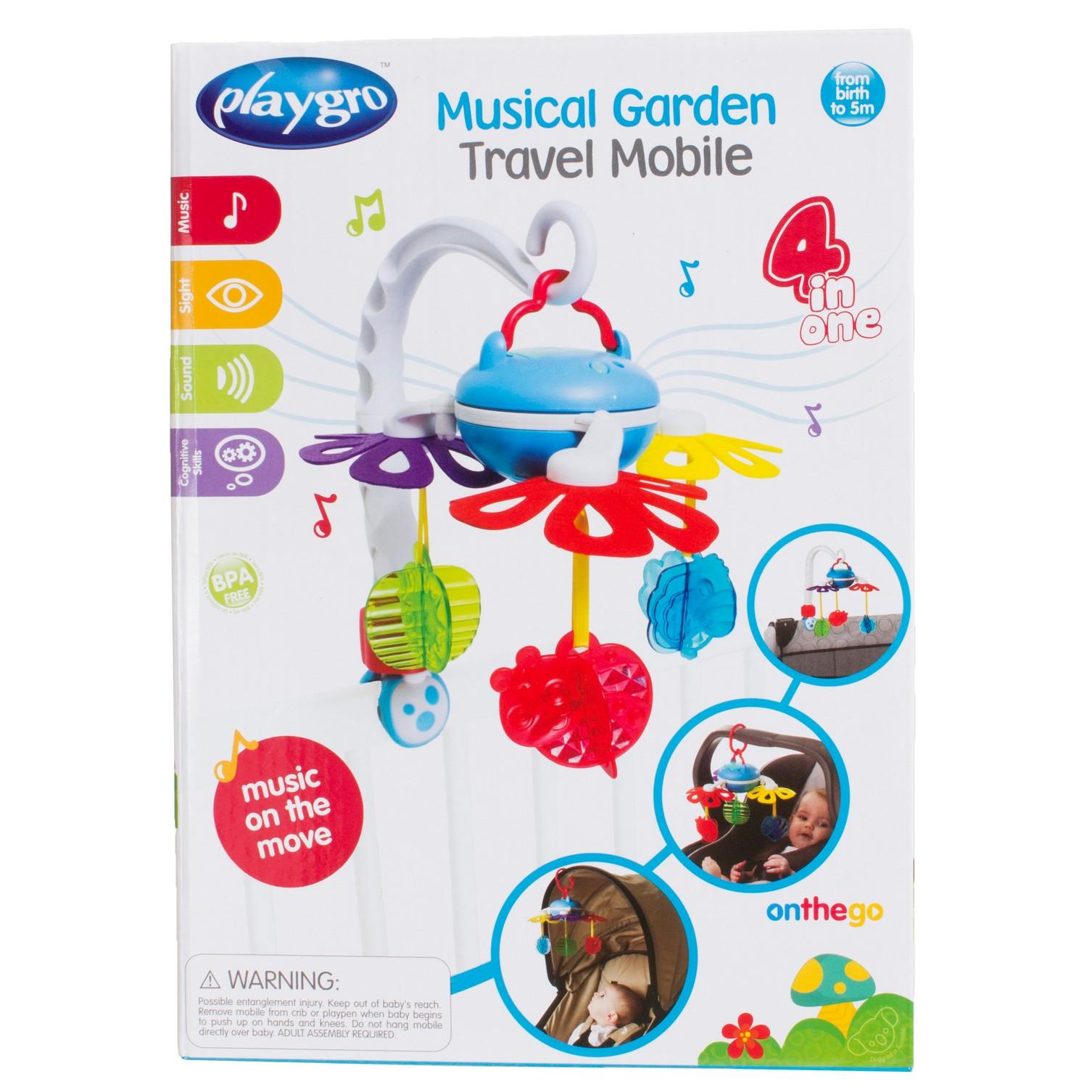 Playgro   Playgro Muscial Garden Travel Mobile Multicolor