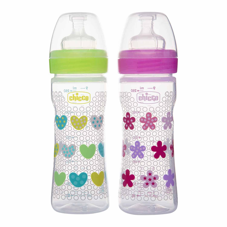 Mothercare   Chicco Bipack Wbbottle250Ml Flowerheart Pi/Gr