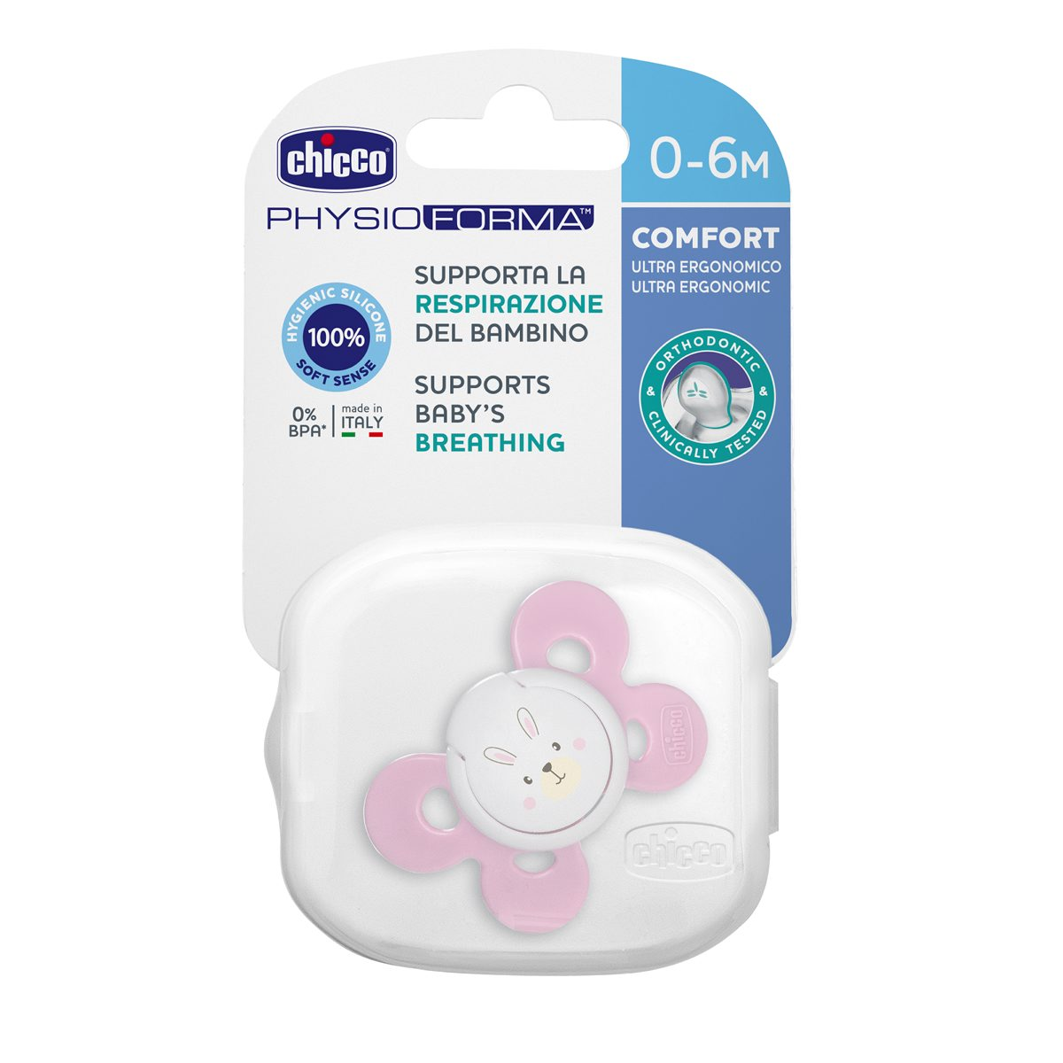 Mothercare   Chicco Soother Ph.Comfort Pink Sil 0-6M 1Pc