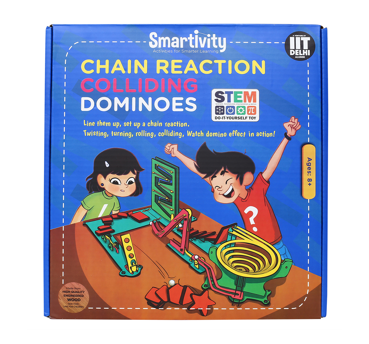 Smartivity | Smartivity Chain Reaction Colliding Dominoes: Stem, Learning, Educational and Construction Activity Toy for Kids age 8Y+