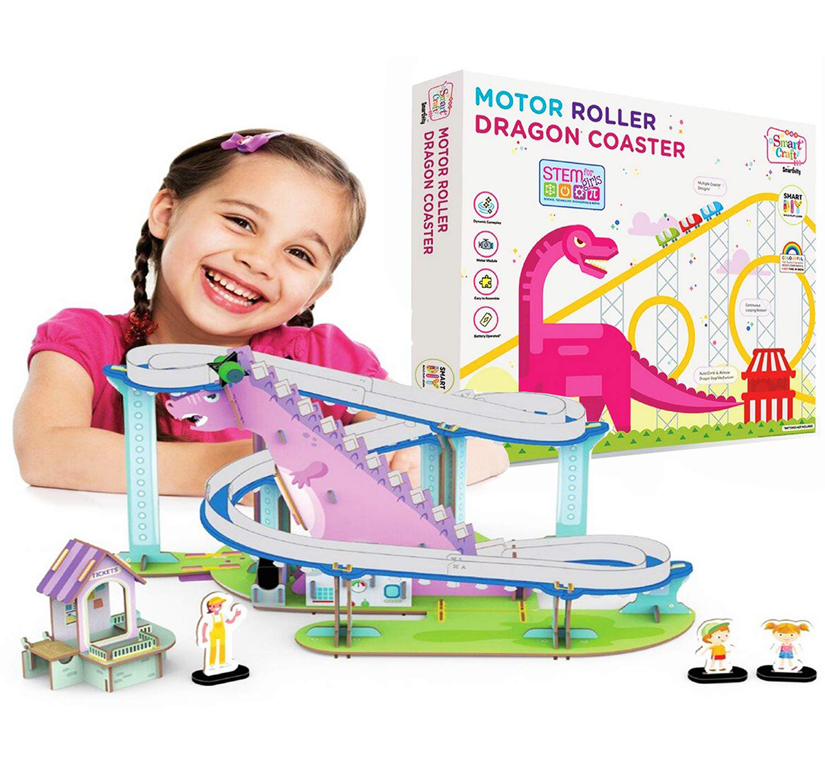 Smartivity | Smartivity Motor Roller Dragon Coaster: Stem, Diy, Educational, Learning, Building and Construction Toy for Kids age 6Y+