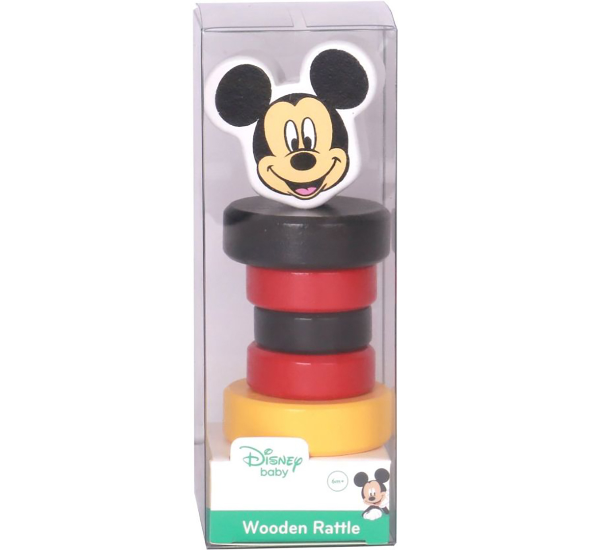 Disney | Disney Mickey Wooden Rattle for New Born Kids age 6M+