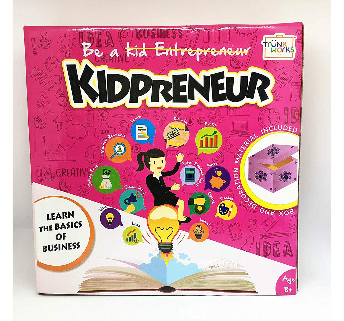 Trunkworks | Trunk Works Kidpreneur - Jewellery Box Version - Games for Kids age 3Y+ (Pink)