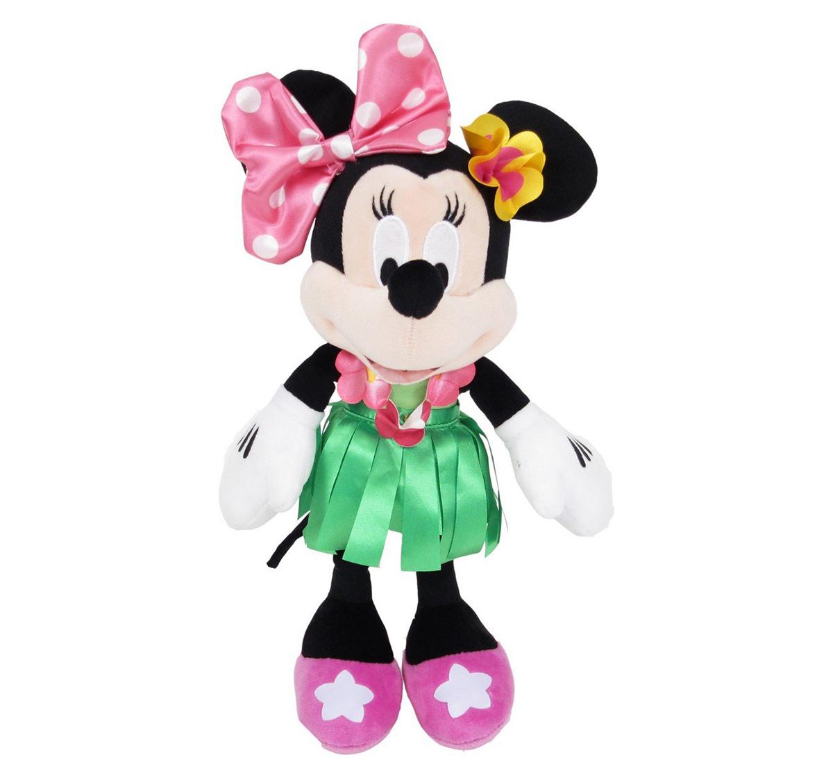 """Disney   Disney Minnie In Hawaiian Dress Plush 10"""""""