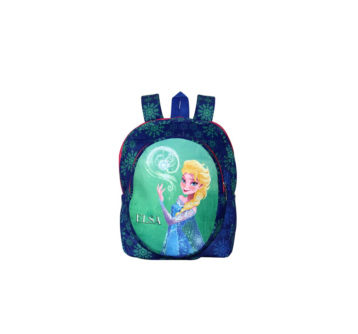 Disney | Disney Happiness Unisex Zipper Closure Frozen Elsa Backpack_Blue_Free Size Plush Accessories for Kids age 12M+ - 35 Cm
