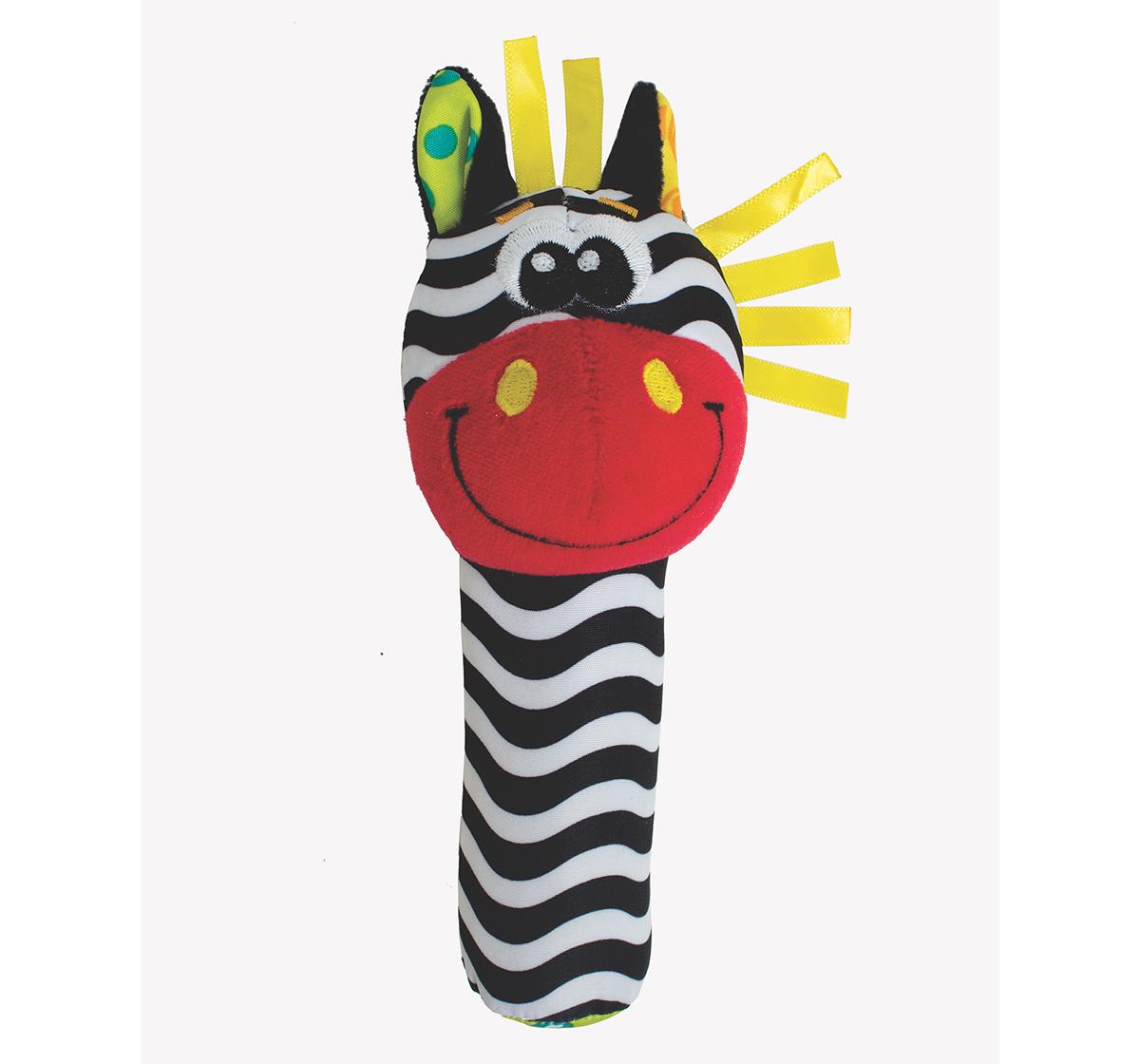 Playgro   Playgro Jungle Squeaker Zebra New Born for Kids age 3M+ (Black)