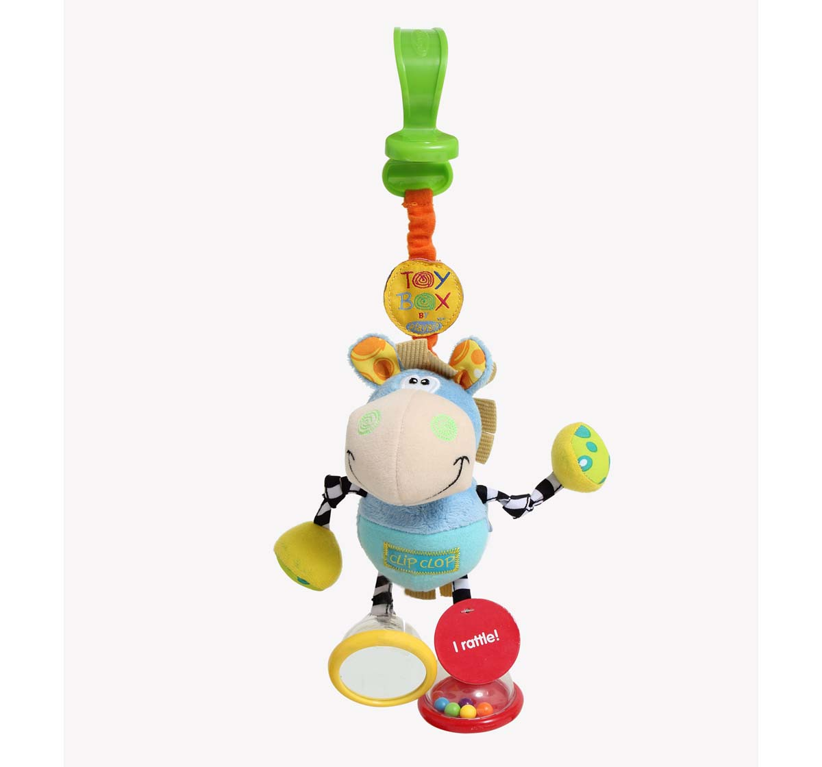 Playgro   Playgro Toy Box Dingly Dangly Clip New Born for Kids age 0M+ (Blue)