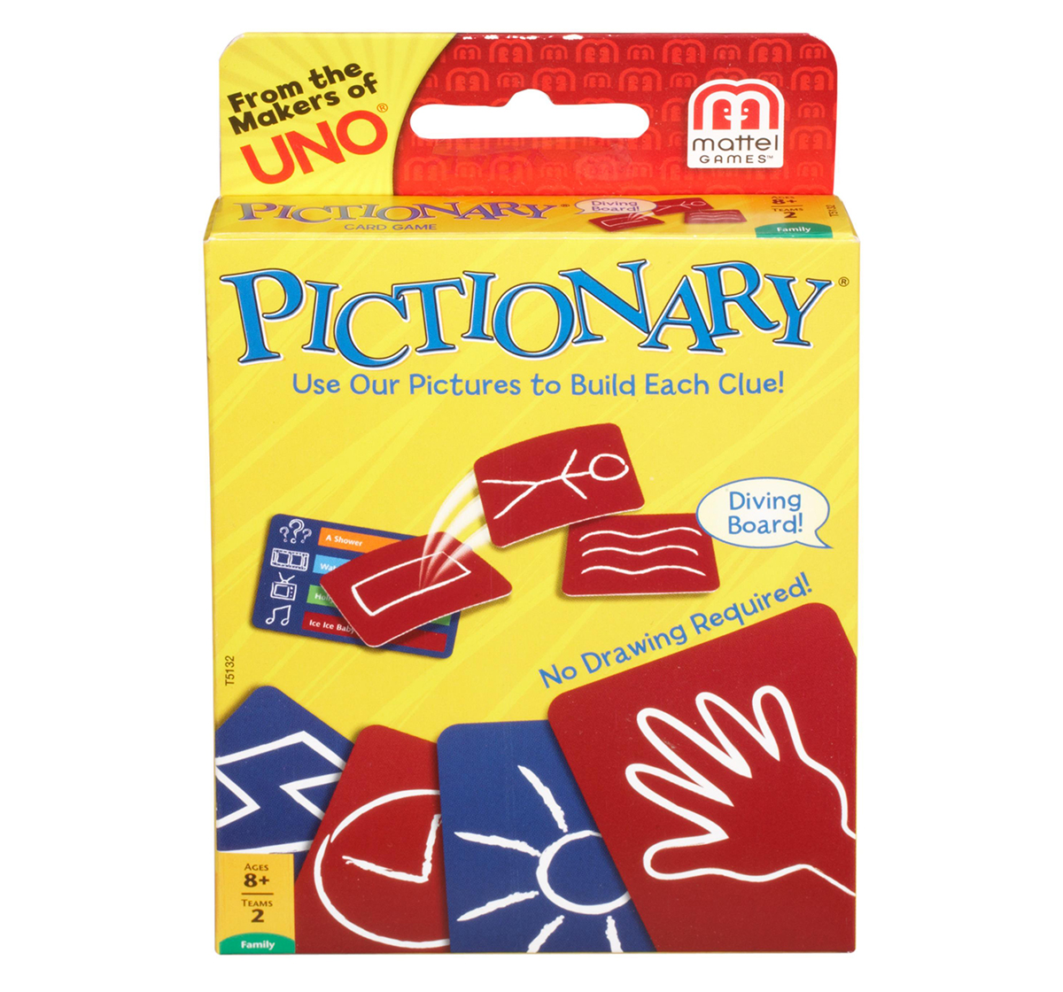 Mattel | Mattel Games Pictionary Card Game Games for Kids age 7Y+