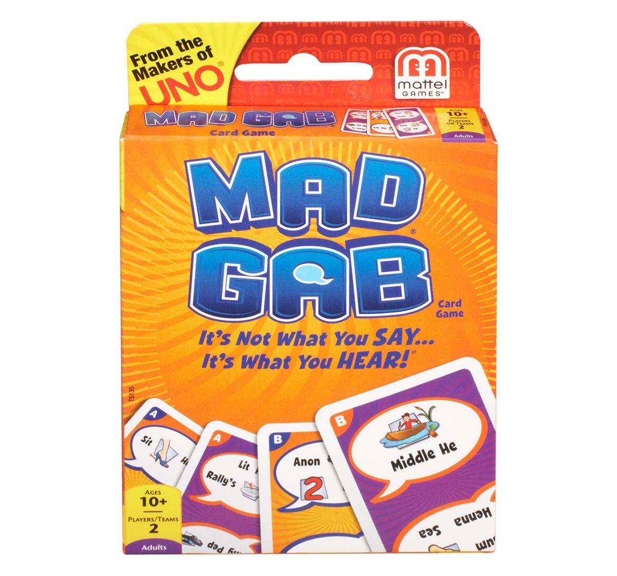 Mattel | Mattel Mad Gab Card Game Games for Kids age 7Y+
