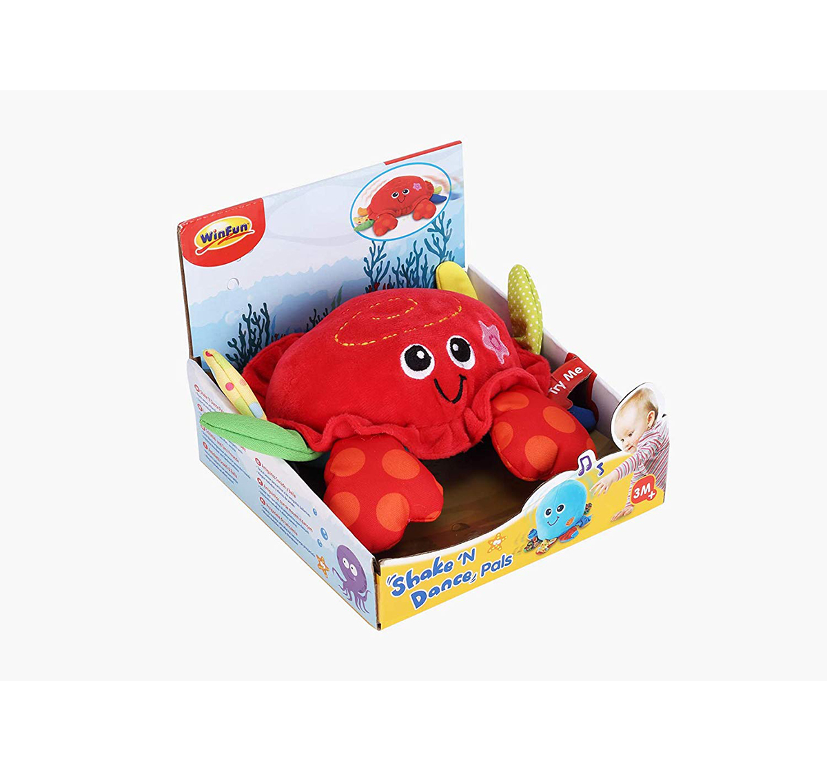 WinFun | Winfun Shake N Dance Pals - Crab Early Learner Toys for Kids age 3M+ (Red)