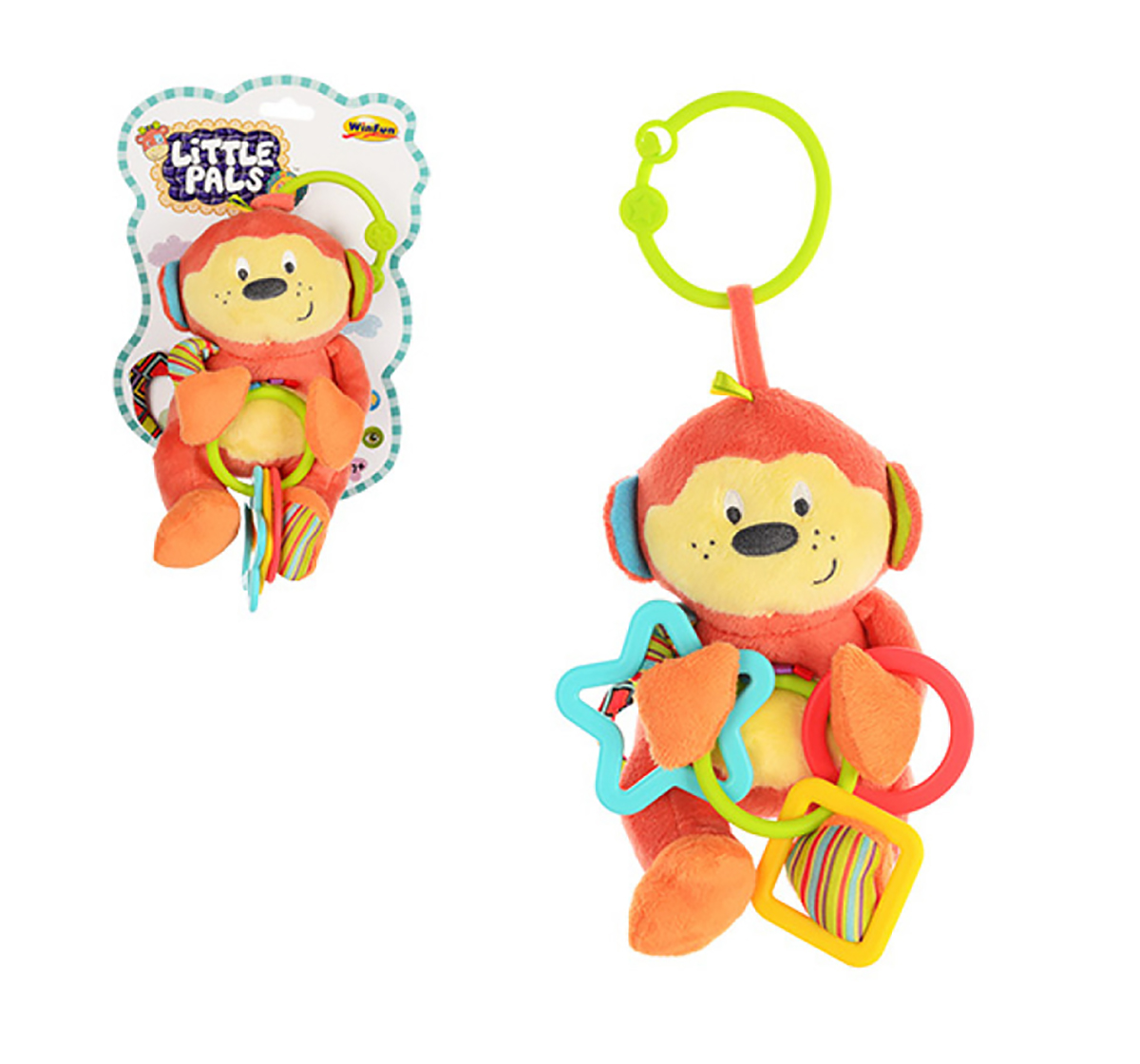 WinFun | Winfun Cheeky Chimp Rattle With Wings New Born for Kids age 0M+