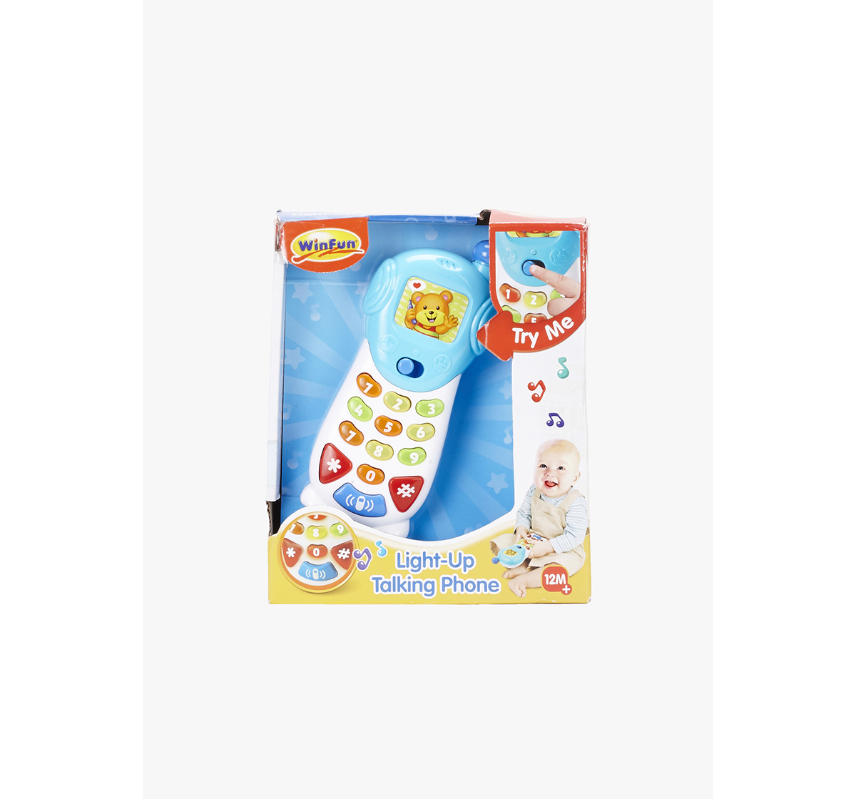 WinFun | Winfun Lightup Talking Phone Learning Toys for Kids age 12M+ (Blue)