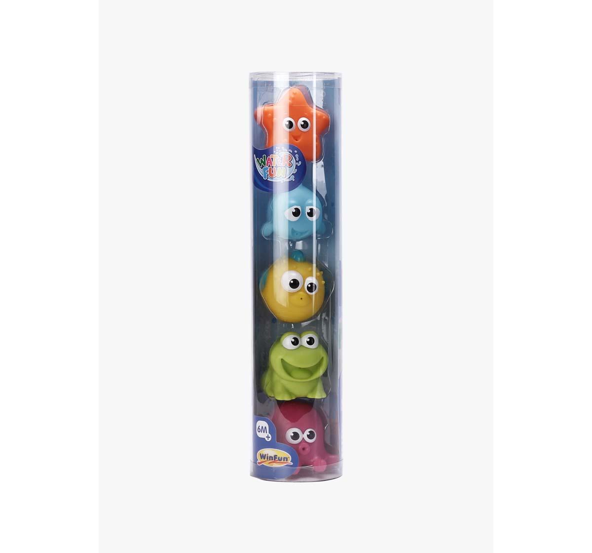WinFun |  Winfun Splash 'N Squirt Bathtime Pals 5 Pcs Toys & Accessories for Kids age 6M+