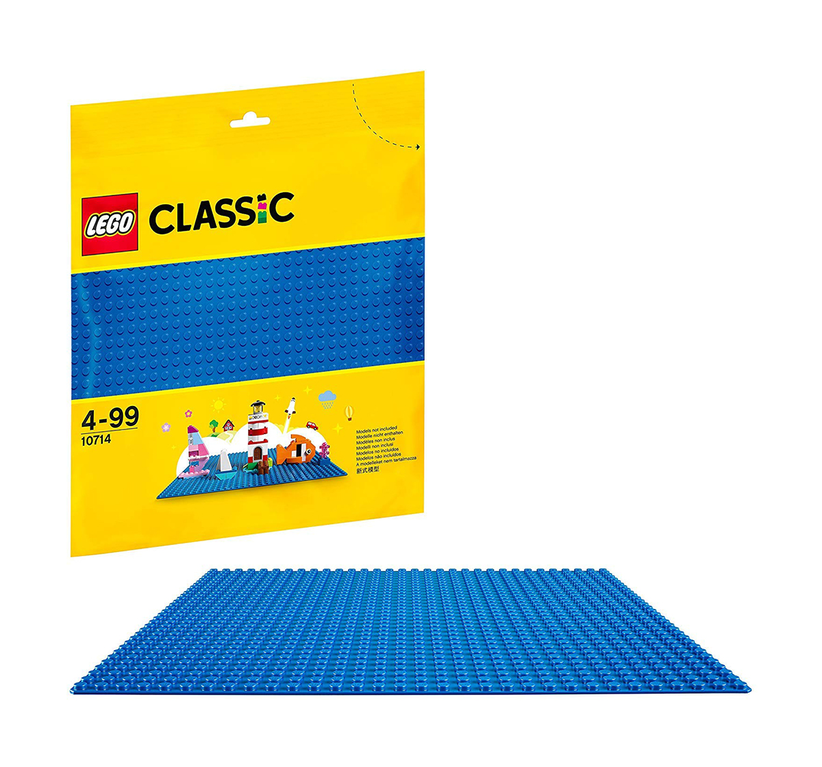 LEGO | Lego Classic  Baseplate Supplement 10714  Blocks for Kids age 4Y+ (Blue)
