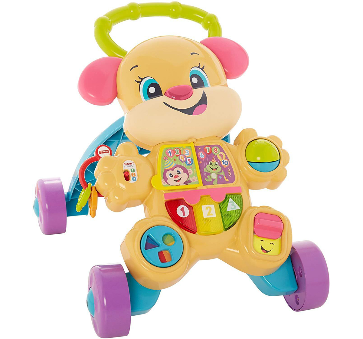 Fisher-Price | Fisher Price Laugh And Learn Smart Stages Learn With Sis Walker, Multi Color Baby Gear for Kids age 6M+