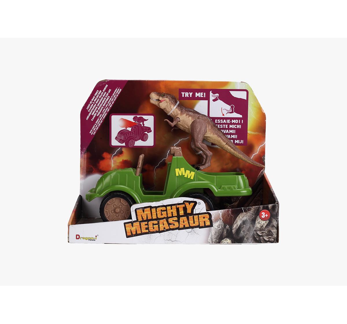 Dragon I | Dragon I Dino Truck Light Sound Trex Robotic Set for Kids age 3Y+ (Brown)