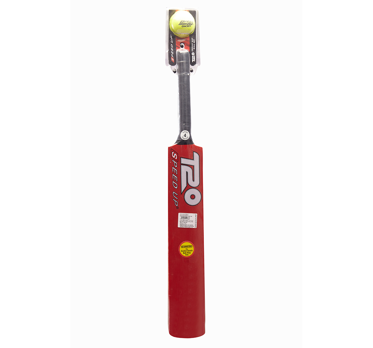 Speed Up   Speed Up Bat and Ball Set Size 4 for Boys age 6Y+ (Red)