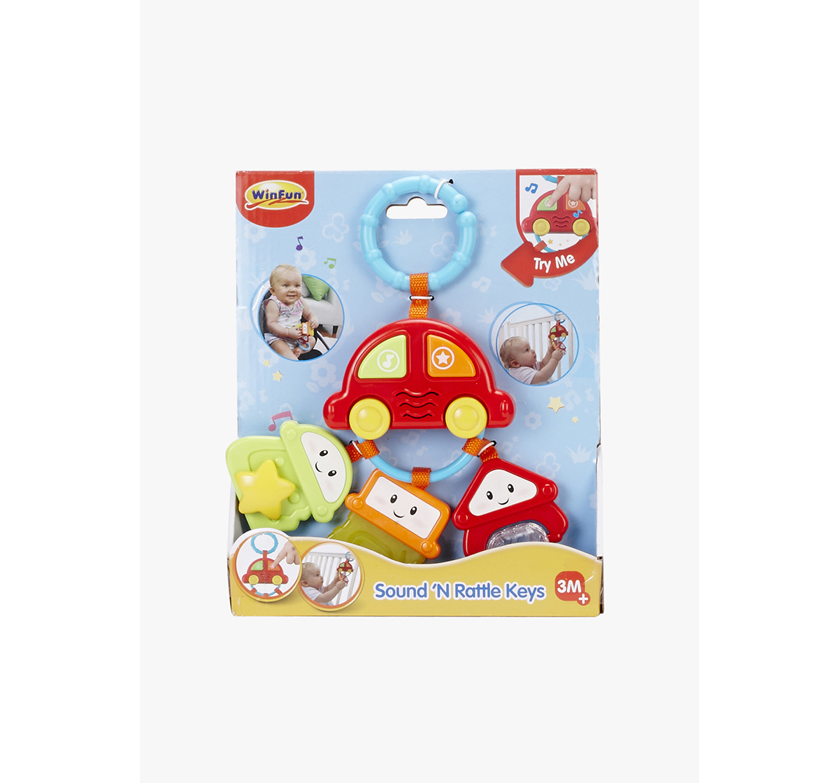 WinFun   Winfun Light And Sounds Rattle Keys New Born for Kids age 3Y+