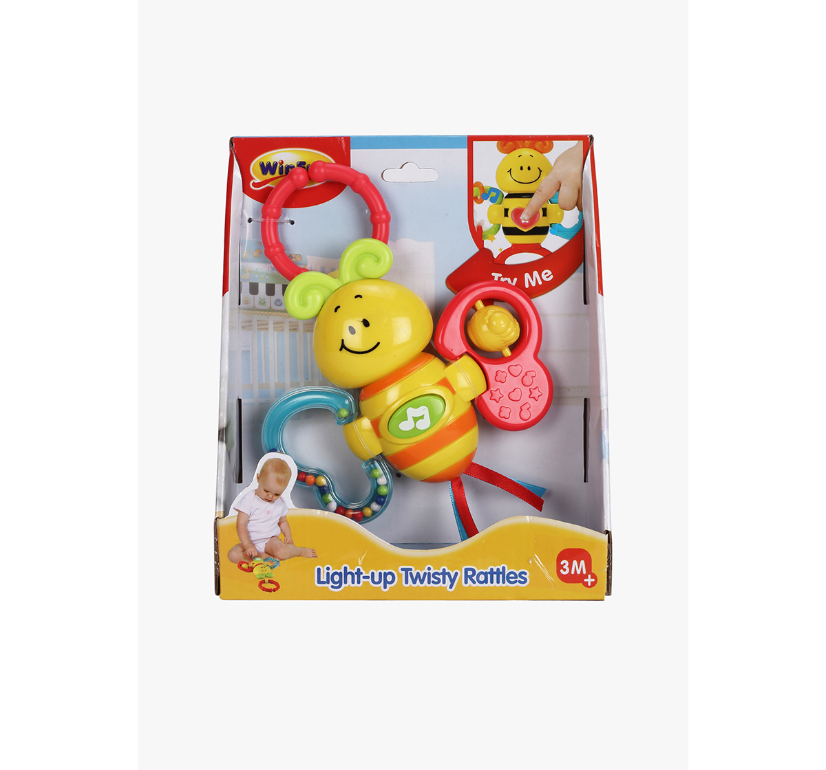 WinFun | Winfun Light Up Twisty Rattle - Butterfly New Born for Kids age 3M+
