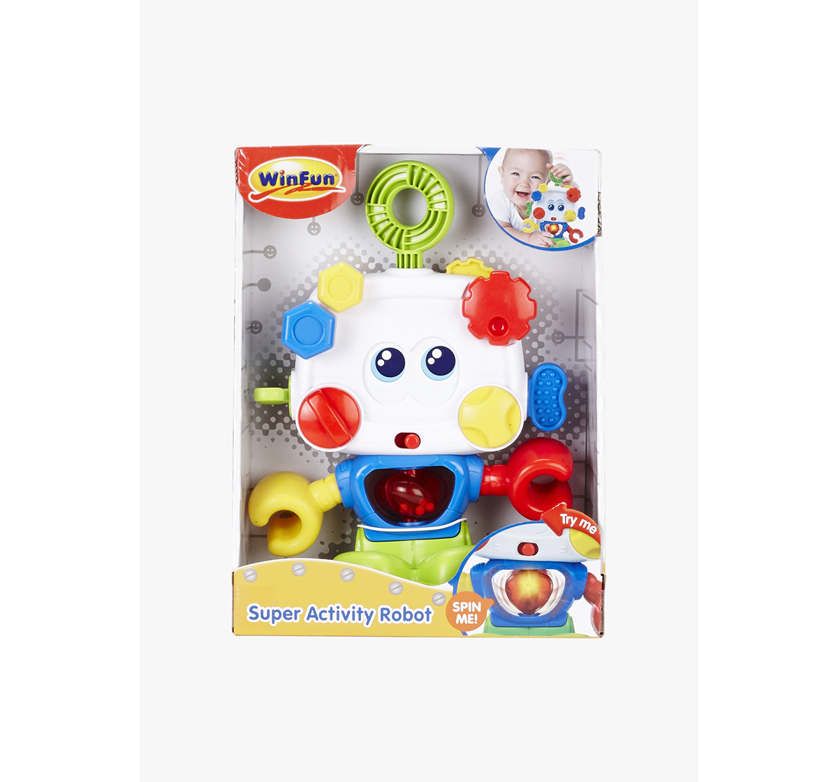 WinFun   Winfun Super Activity Robot Learning Toys for Kids age 9M+ (White)