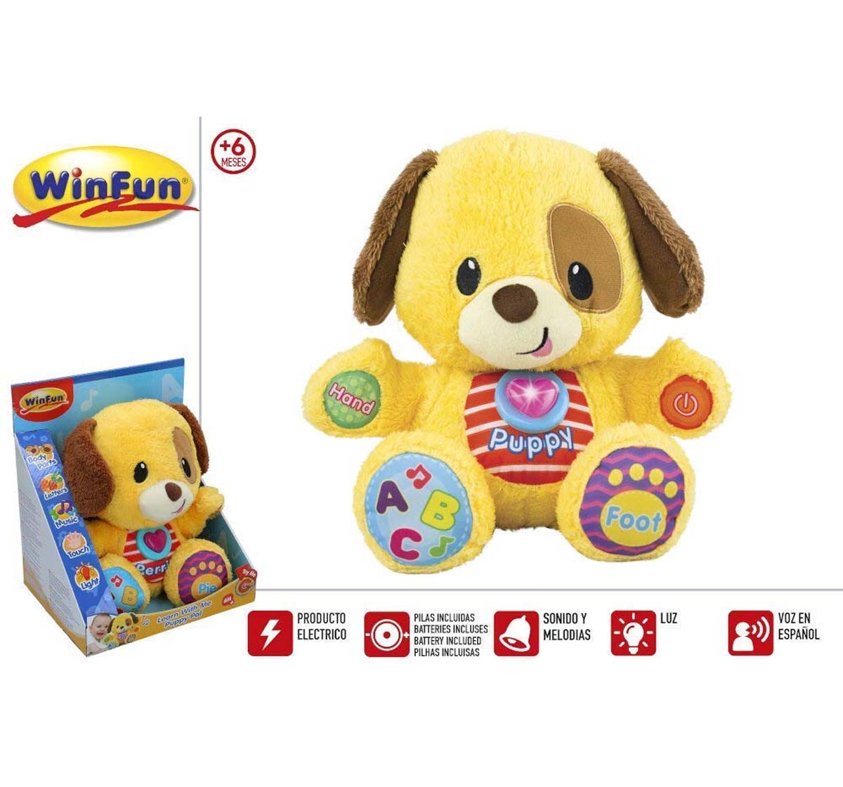 WinFun | Winfun Learn with me Brown Puppy Pal Learning Toys for Kids age 3Y+