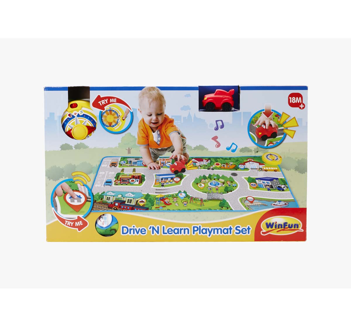 WinFun | Winfun Drive N Learn Playmat Learning Set Toys for Kids age 18M +