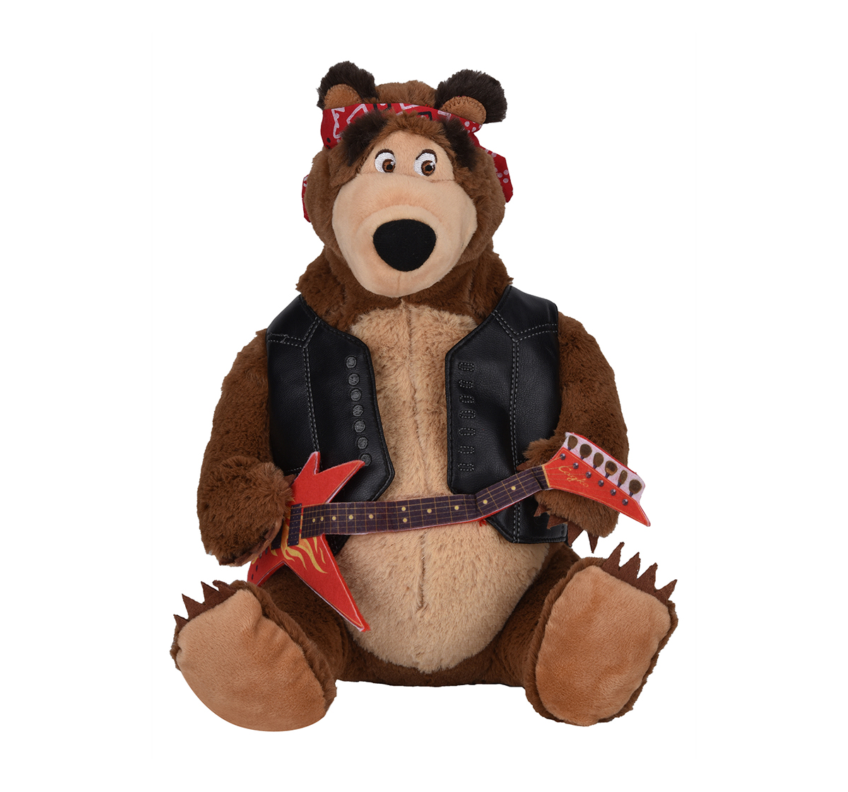 Masha And The Bear | Simba Masha Plush Bear With Melody Fun Interactive Soft Toys for Kids age 3Y+ - 36 Cm (Brown)