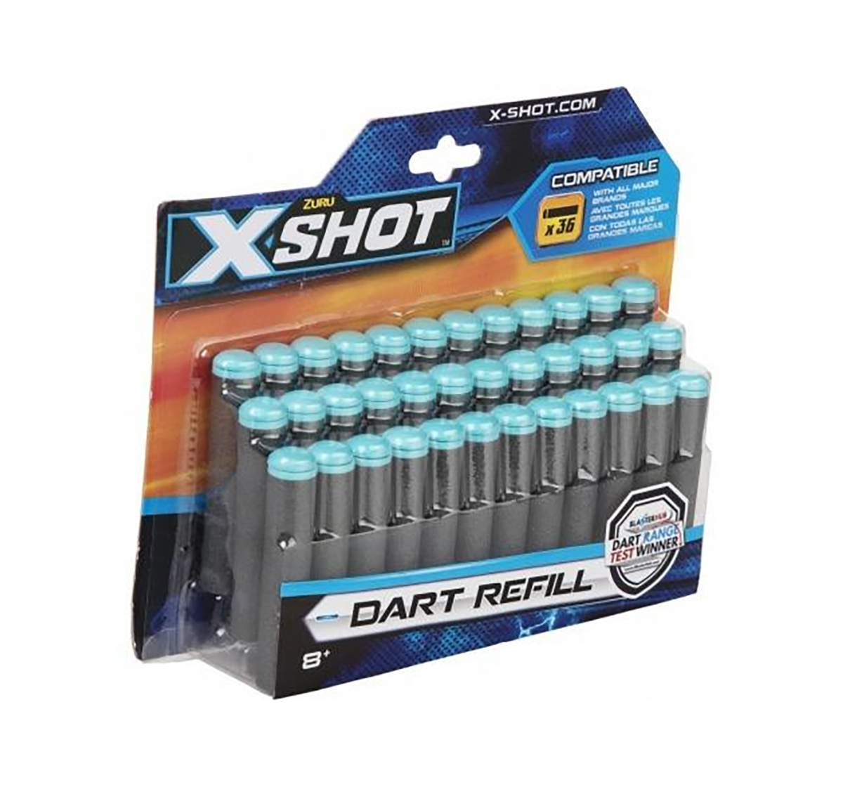 X-Shot | X-Shot 36 Darts Refill Pack Target Games  for Kids age 8Y+ (Grey)
