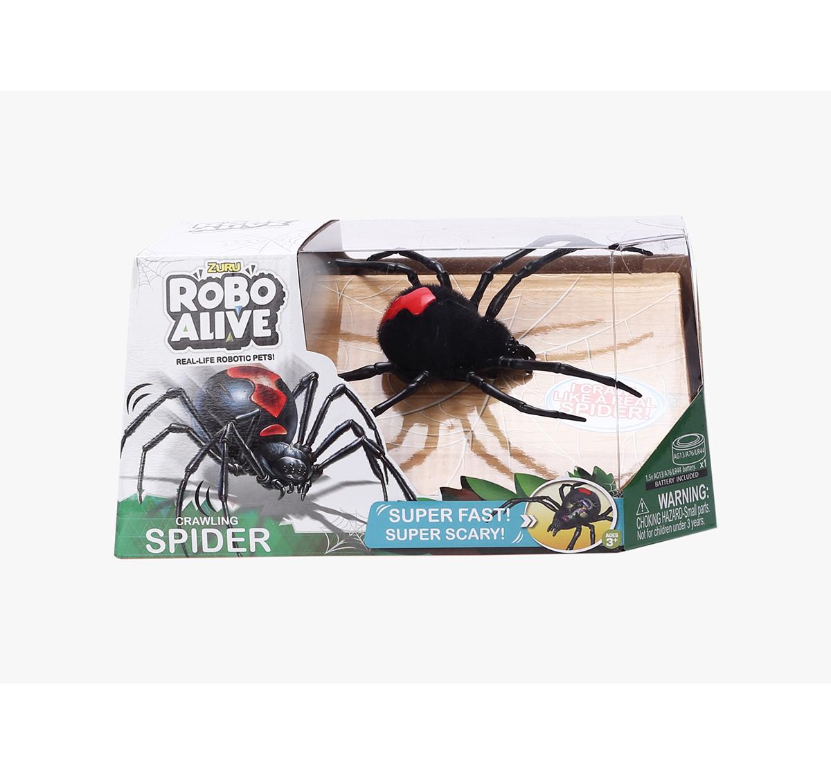 Robo Alive | Zuru Robo Alive Boys Creepy Spider Robotics for Kids age 3Y+ (Black)