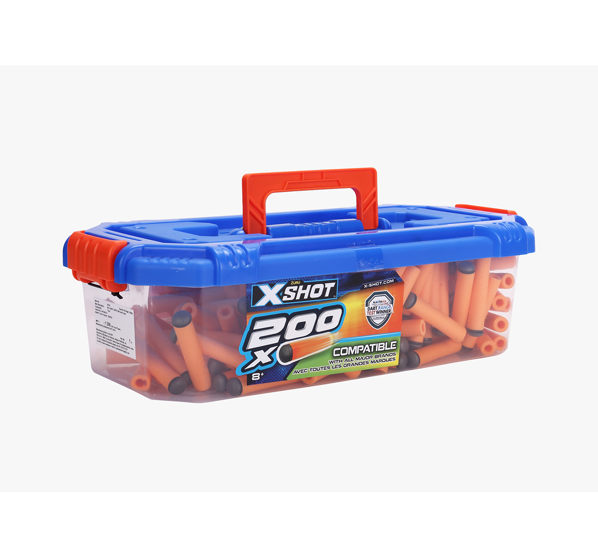 X-Shot | X-Shot 200 Darts Refill with Carry Case Target Games  for Kids age 8Y+ (Orange)