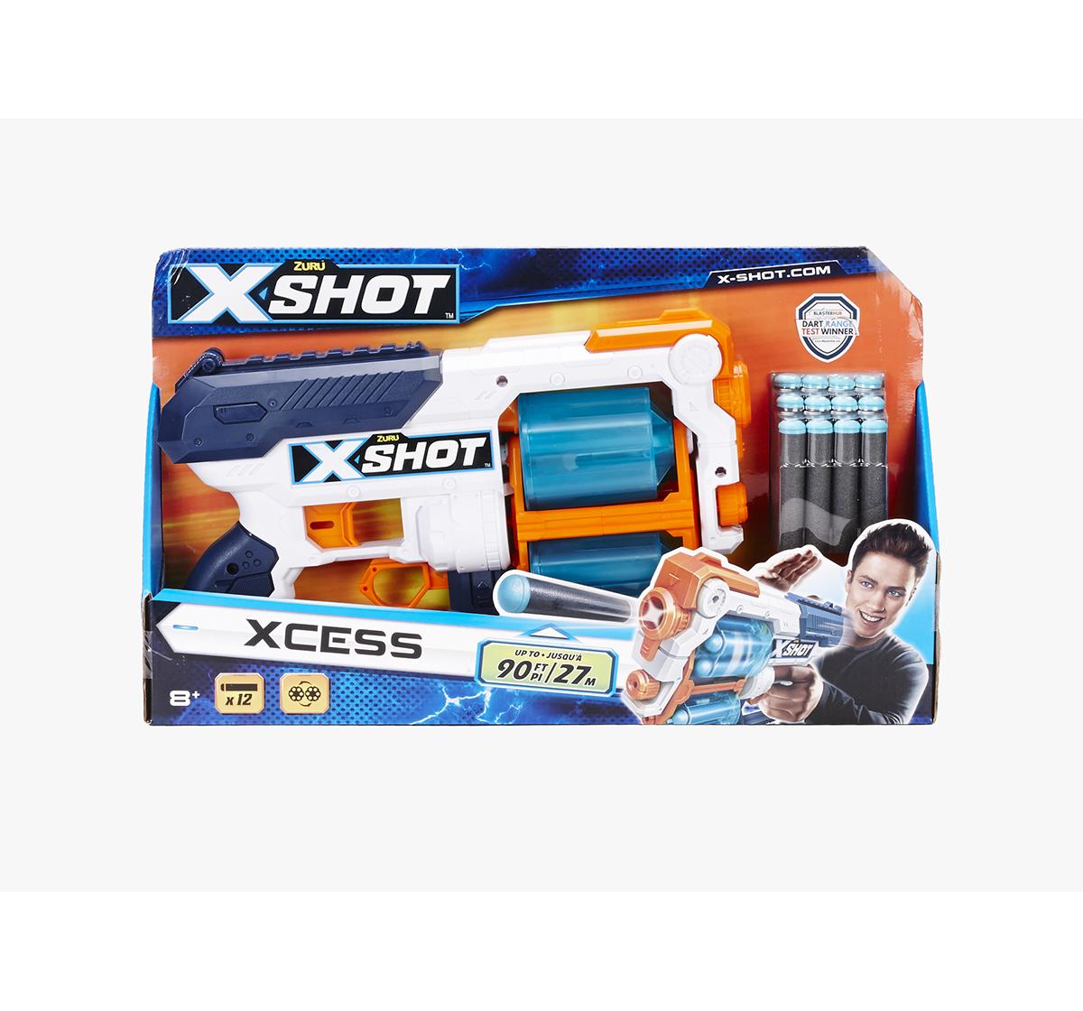 X-Shot | X-Shot Excel Plastic Xcess Tk 12 Blasters for Kids age 8Y+