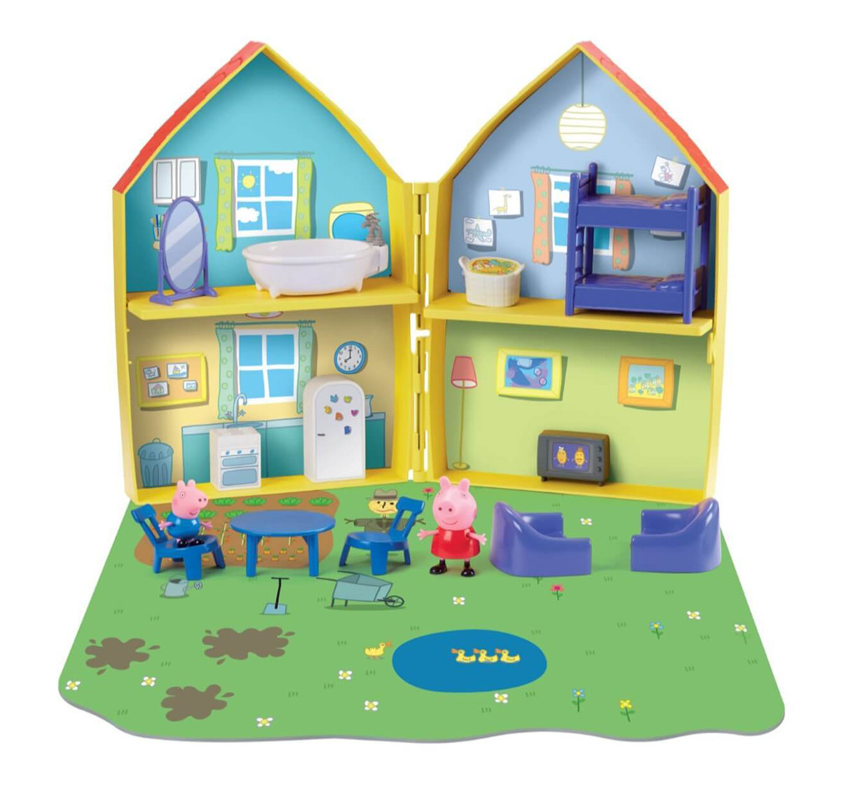 Peppa Pig | Peppa Pig - 16-Piece Playhouse With Peppa And George Pig Figures (Multicolour)