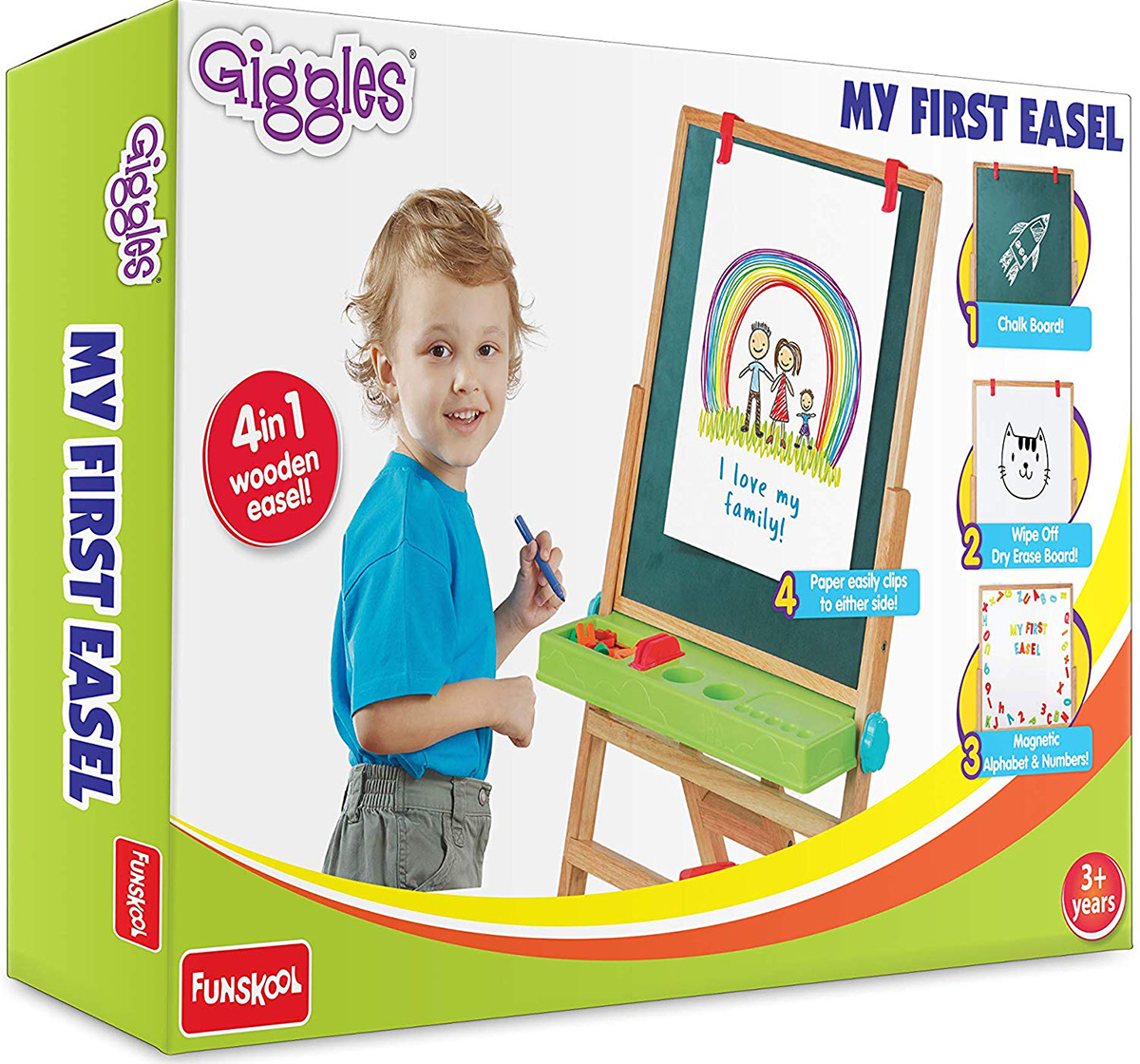 Giggles | Giggles My First New Easel - Brown Activity Table & Boards for Kids age 3Y+ (Brown)