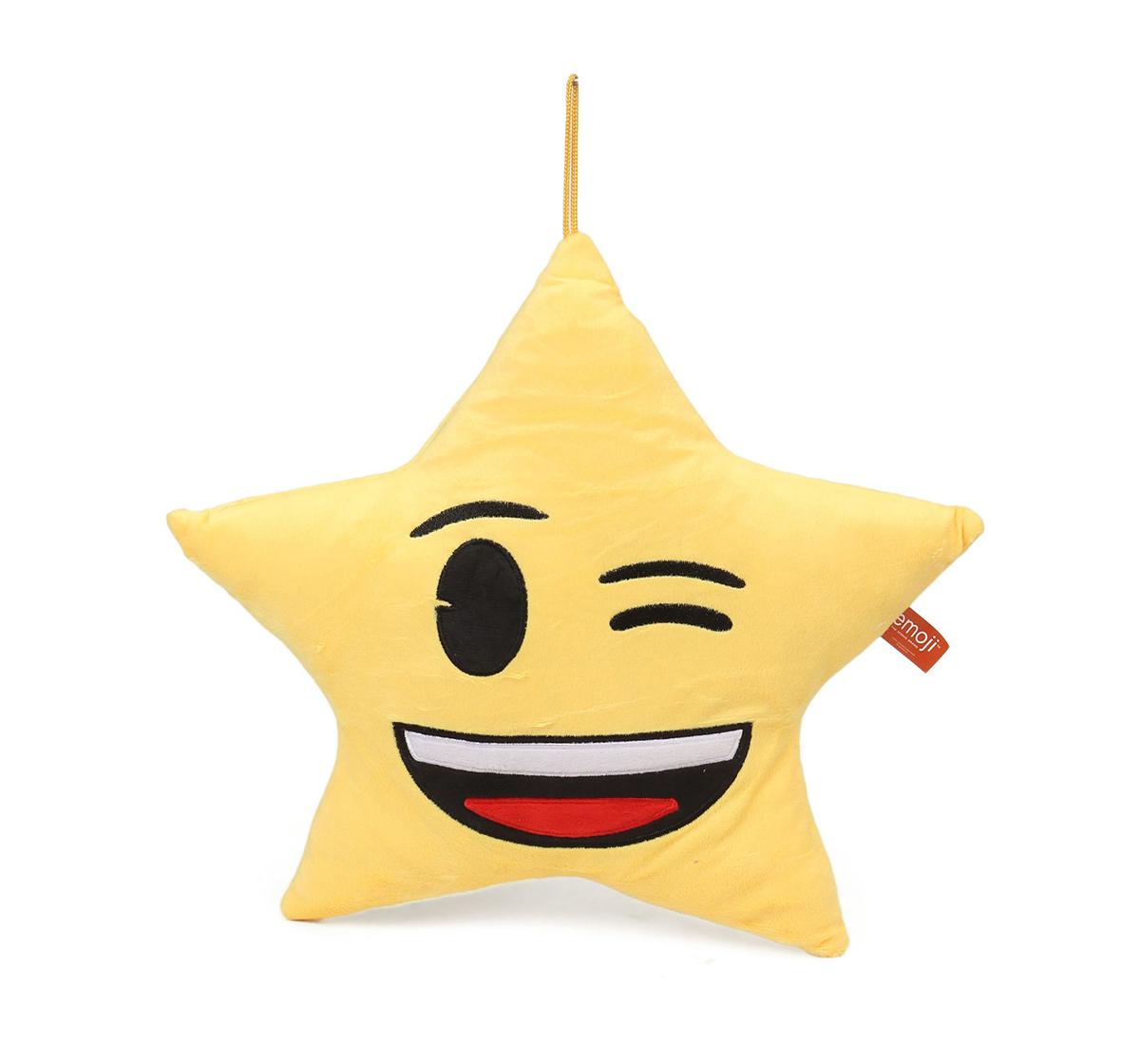 Emoji |  My Baby Excel Emoji Star Winking Eyes Face 30 Cm Plush Accessory for Kids age 1Y+  (Yellow)